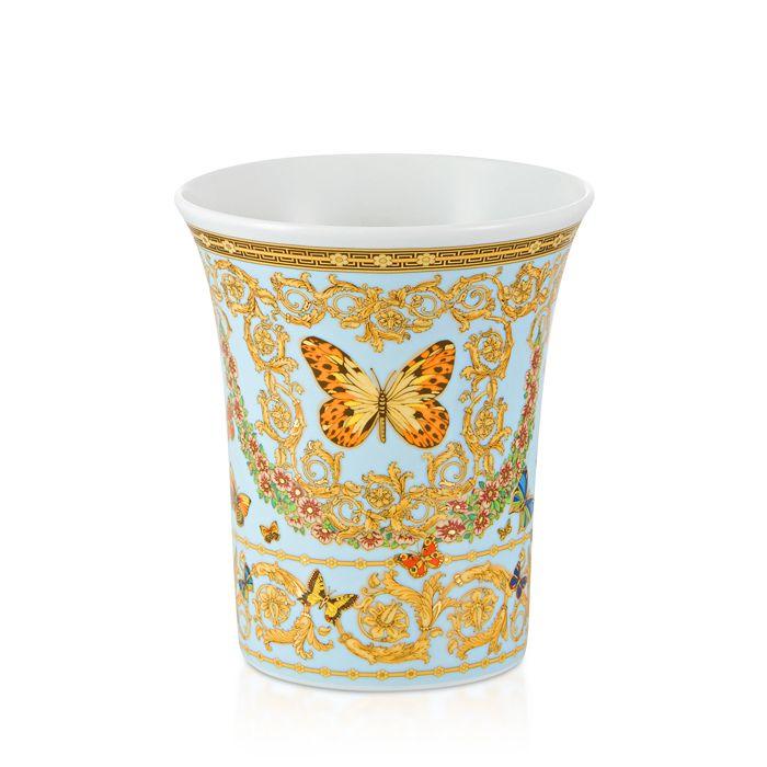 "Versace - Butterfly Garden 7"" Vase"