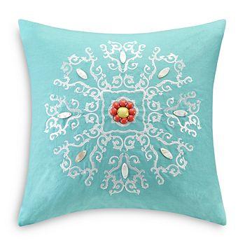 "Echo - Cyprus Square Decorative Pillow, 18"" x 18"""