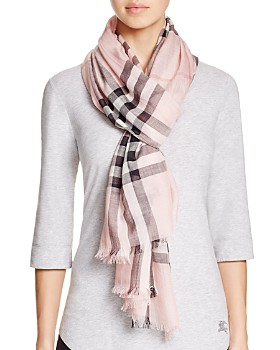 Burberry - Giant Check Wool   Silk Gauze Scarf ... 6ca5f88e38