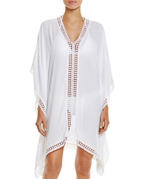 cbfe8424b3 Tommy Bahama - Lace Trim Tunic Swim Cover-Up - 100% Exclusive ...