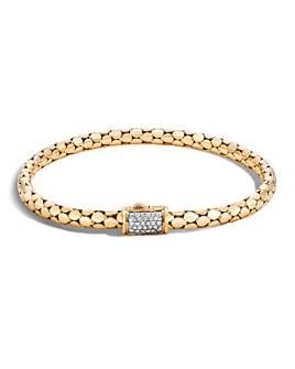 JOHN HARDY - 18K Yellow Gold Dot Slim Chain Bracelet with Diamonds