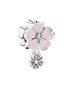 PANDORA Moments Collection Sterling Silver, Cubic Zirconia & Enamel Poetic Blooms Charm - Bloomingdale's_0