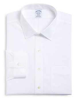 Brooks Brothers - Pinpoint Solid Non-Iron Classic Fit Dress Shirt