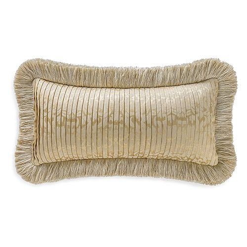 """Waterford - Marcello Fringe Decorative Pillow, 11"""" x 22"""""""