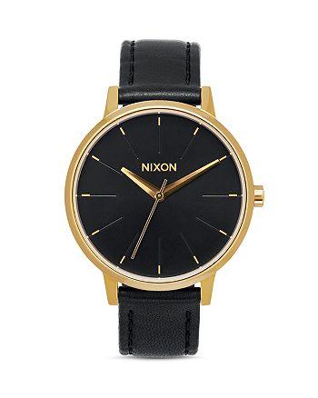 Nixon - Kensington Leather Strap Watch, 37mm
