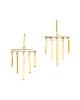 MATEO - 14K Yellow Gold Bar Dangle Earrings