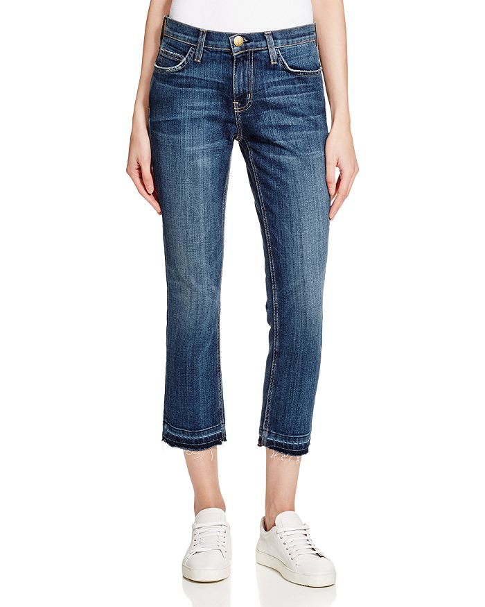 Current/Elliott - Cropped Straight Jeans in Loved