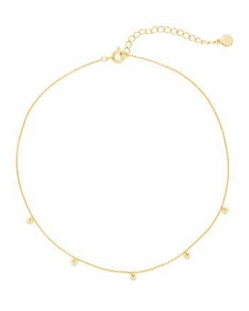 "Gorjana - Five Disc Choker Necklace, 12"""