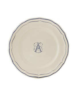 Gien France - Monogram Filets Bleu Dinner Plate