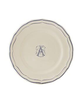 Gien France - Monogram Filets Bleu Dinner Plate