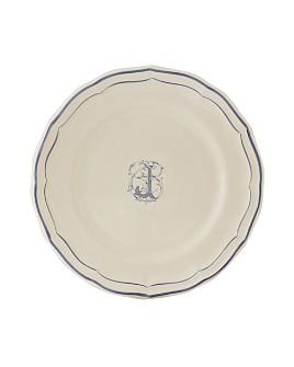 Gien France - Monogram Filets Bleu Dessert Plate