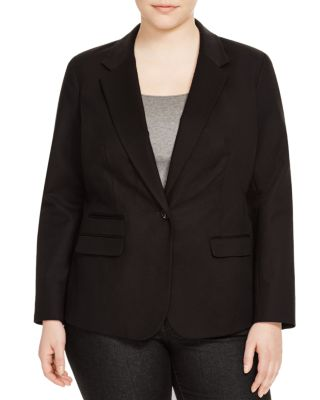 VINCE CAMUTO PLUS Single Button Blazer in Rich Black