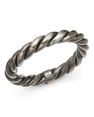 Roberto Coin Ruthenium Finished Sterling Silver Twist Bangle Bracelet-Jewelry & Accessories