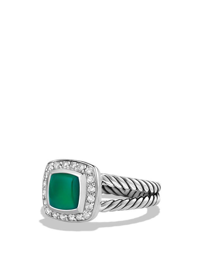 David Yurman - Petite Albion Ring with Green Onyx and Diamonds