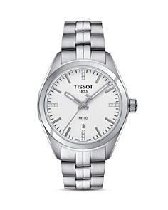 Tissot PR 100 Stainless Steel Watch with Diamonds, 33mm - Bloomingdale's_0