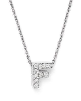 Roberto coin 18k white gold initial love letter pendant necklace roberto coin 18k white gold initial love letter pendant necklace with diamonds 16 f mozeypictures Choice Image
