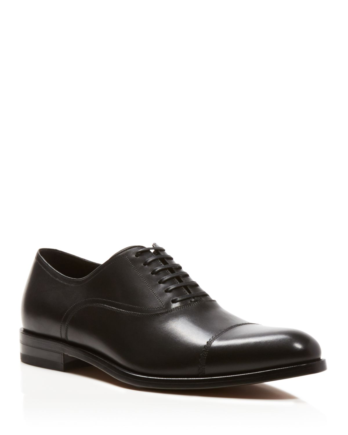 Salvatore Ferragamo Leather Cap-Toe Oxfords