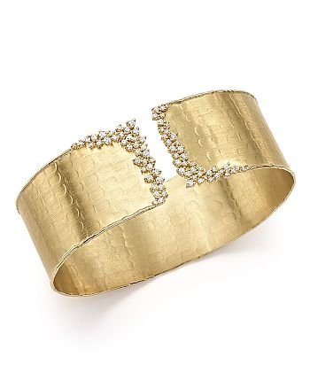 Bloomingdale's - Diamond Cuff Bracelet in 14K Yellow Gold, .75 ct. t.w. - 100% Exclusive