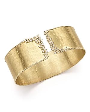 Diamond Cuff Bracelet in 14K Yellow Gold, .75 ct. t.w. - 100% Exclusive