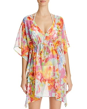 Echo Flowers In The Wind Butterfly Tunic Swim Cover-Up