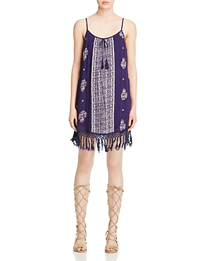 Band of Gypsies Fringe Hem Printed Dress