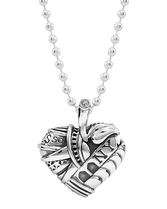 LAGOS - Sterling Silver Heart of New York Necklace, 34""