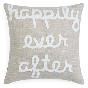 Alexandra Ferguson Linen Happily Ever After Decorative Pillow, 16 x 16 - 100% Exclusive