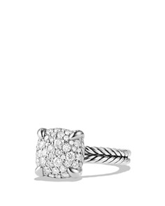 David Yurman - Châtelaine Ring with Diamonds in Sterling Silver