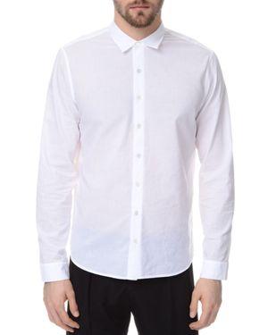 Atm Classic Cotton Slim Fit Button-Down Shirt