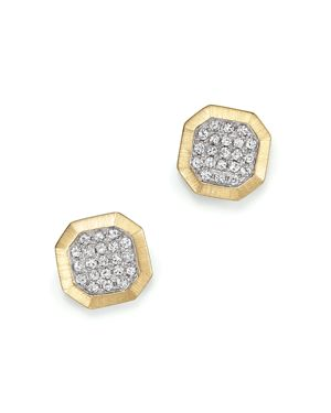 Kc Designs Diamond Pave Octagon Studs in 14K Yellow Gold, .20 ct. t.w.