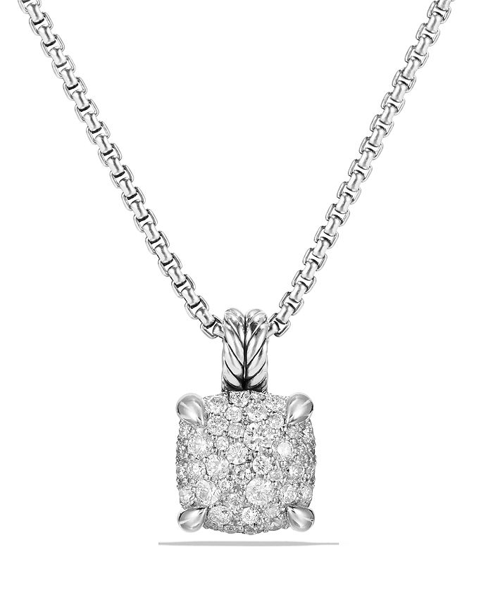 David Yurman - Châtelaine Pendant Necklace with Diamonds in Sterling Silver