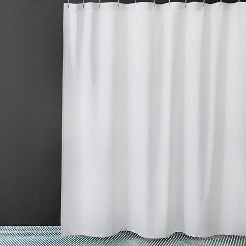 Waterworks Washed Linen Shower Curtain