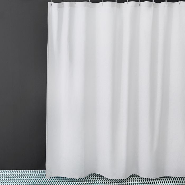 Waterworks Washed Linen Shower Curtain
