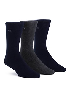 Calvin Klein Flat Knit Crew Socks, Pack of 3 - Bloomingdale's_0