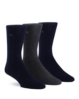 Calvin Klein - Flat Knit Crew Socks, Pack of 3