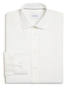 Eton - Basic Regular Fit Small Herringbone Dress Shirt