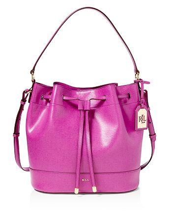 a2ed6687cdc3 Ralph Lauren - Tate Drawstring Bucket Bag