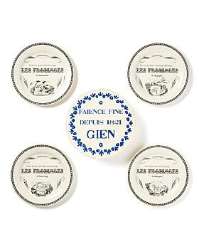 Gien France - Les Fromages Tidbit Plates, Set of 4