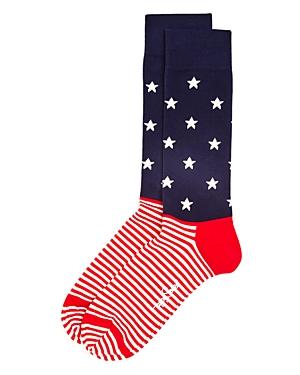 Happy Socks Men's Stars & Stripes Dress Socks