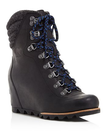 Sorel - Women's Conquest Lace Up Wedge Booties - 100% Exclusive