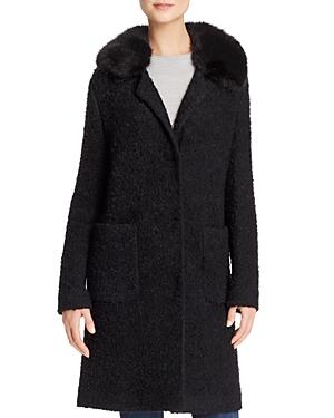 Basler Faux Fur Collar Boucle Coat