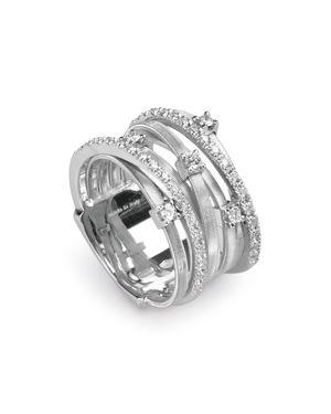 Marco Bicego Goa 18K White Gold and Diamond Ring, 0.4 ct.