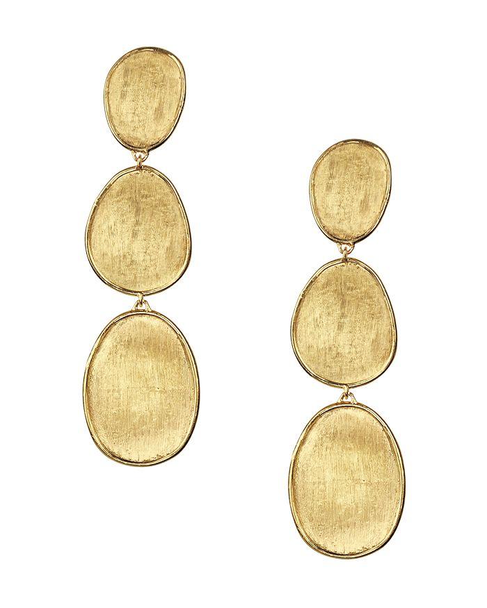 Marco Bicego - 18K Yellow Gold Lunaria Three Tiered Drop Earrings