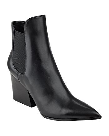 Kendall + Kylie - Women's Finley Pointed Toe Block Heel Booties