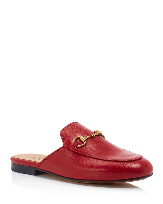 Gucci Princetown Fur-Lined Leather Loafer Slides