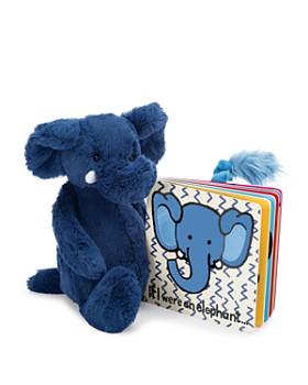 Jellycat - If I Were an Elephant Book & Bashful Elephant