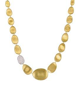 "Marco Bicego - Diamond Lunaria Collar Necklace in 18K Gold, 16.5"""