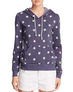 ALTERNATIVE - Athletics Star Print Hooded Sweatshirt