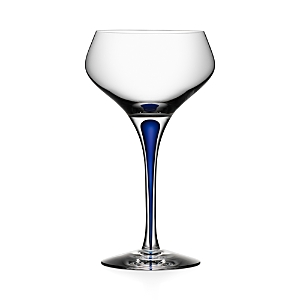 Orrefors Intermezzo Blue Champagne Coupe