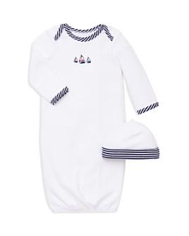 Little Me - Boys' Sailboat Gown & Hat Set - Baby